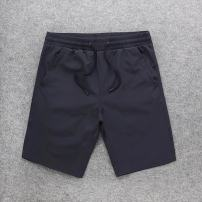 Casual pants Others Youth fashion Navy Blue XL routine Shorts (up to knee) Other leisure Straight cylinder summer youth tide Little feet Solid color other cotton