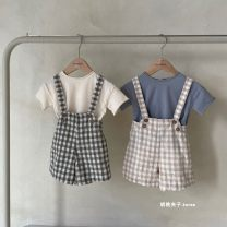 trousers Other / other neutral S(1~2Y),M(3~4Y),L(5~6Y),XL(7~8Y) Figure 1: no return and exchange [about 5-15 days for purchasing agent], figure 2: no return and exchange [about 5-15 days for purchasing agent] summer shorts Korean version No model rompers Leather belt High waist cotton