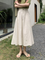 skirt Spring 2021 M, L Apricot, khaki, black longuette Versatile High waist A-line skirt Solid color Type A 25-29 years old 91% (inclusive) - 95% (inclusive) other other printing , Asymmetry , Ruffles 401g / m ^ 2 (inclusive) - 500g / m ^ 2 (inclusive)