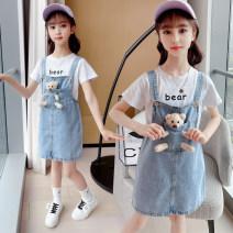 Dress female Other / other Other 100% summer Korean version Strapless skirt lattice Denim Denim skirt Class B 14, 3, 9, 12, 7, 8, 6, 13, 11, 4, 10, 5 Chinese Mainland 110cm,120cm,130cm,140cm,150cm,160cm,170cm