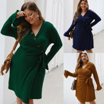 Women's large Autumn of 2019 Solid color
