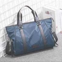 Men's bag The single shoulder bag oxford Other / other Blue large Oxford, black large Oxford, blue small Oxford, black small Oxford brand new leisure time Japan and South Korea zipper soft in no mobile phone bag Solid color Yes Single root youth Horizontal square polyester fiber Sewing Soft handle