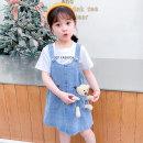 Dress female Dalio 100cm 110cm 120cm 130cm 140cm Other 100% summer Korean version Strapless skirt Solid color Cotton denim Strapless skirt Summer 2021 12 months, 18 months, 2 years old, 3 years old, 4 years old, 5 years old, 6 years old, 7 years old and 8 years old Chinese Mainland Zhejiang Province