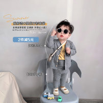 suit A Xiaoxuan Grey coat , Grey trousers Size 66, size 74, size 80 (model small nine), Size 90, size 100, Wu shoot more new products, pay attention to VX: a1xxyt neutral spring and autumn leisure time There are models in the real shooting nothing other cotton other Chinese Mainland Jiangsu Province