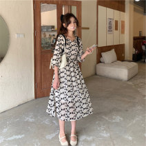 Dress Summer 2021 Picture color S M L Mid length dress singleton  commute Decor 18-24 years old Beautiful people in the North Korean version HGFD8866 More than 95% other Other 100% Pure e-commerce (online only)
