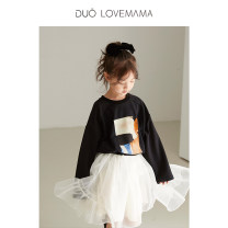 skirt 90cm 100cm 110cm 120cm 130cm Sweet corn [spot] sweet corn [4.2-4.8 rounds] black [spot] black [4.2-4.8 rounds] DUOLOVEMAMA female Polyester 100% spring and autumn skirt solar system Solid color Cake skirt other D20AW5172B1A Class A Autumn 2020