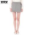 skirt Summer 2020 160/66A/M Beige Short skirt Natural waist 25-29 years old 81% (inclusive) - 90% (inclusive) Vov polyester fiber Polyester 81% viscose 15% polyurethane elastic 4%