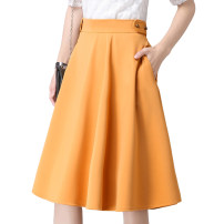 skirt Autumn 2016 XS,S,M,L,XL,2XL,3XL Black, green, ginger Mid length dress Retro High waist A-line skirt Solid color Type A 25-29 years old nf16a08 91% (inclusive) - 95% (inclusive) other Other / other polyester fiber bow 401g / m ^ 2 (inclusive) - 500g / m ^ 2 (inclusive)