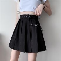 skirt Summer 2020 S [90-100kg], m [100-110kg], l [110-120kg], XL [120-135kg], 2XL [135-150kg], 3XL [150-165kg], 4XL [165-175kg], 5XL [175-200kg] black Short skirt commute High waist A-line skirt Solid color Type A 18-24 years old 30% and below other other Korean version