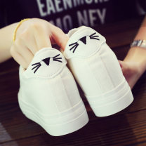 canvas shoe Other / other Low Gang 34,35,36,37,38,39 Summer of 2018 Frenulum Korean version rubber Solid color Cross bandage