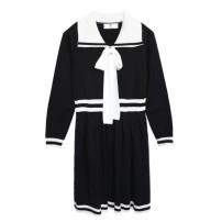 Dress Winter of 2019 Black, peacock green XL,XXL,XXXL,4XL Sweet Luo Ke XCM063