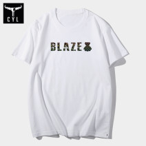 T-shirt Youth fashion White yellow Gray Black Pink routine S M L XL 2XL 3XL XS 4XL 5XL 6XL Red flame Dragon Short sleeve Crew neck standard daily Four seasons MPH08 Cotton 100% teenagers routine Youthful vigor Knitted fabric Summer 2020 Alphanumeric printing cotton The thought of writing tto