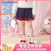 skirt EKSKA1122A-267247 E·LAND KIDS 5 years old, 6 years old, 7 years old, 8 years old, 9 years old, 10 years old, 11 years old, 12 years old, 13 years old, 14 years old Polyacrylonitrile fiber (acrylic fiber) 55% cotton 45% female Solid color A-line skirt skirt college Navy Red