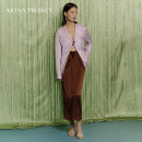 skirt Spring 2021 XS,S,M,L chocolate Mid length dress commute Natural waist other Solid color Type H Chocolate Brown Satin Silk Tie draped skirt More than 95% other AETNA PROJECT silk Ol style