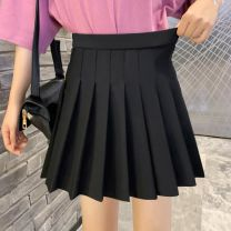 skirt Spring 2020 Short skirt High waist Solid color Type A 888-1 91% (inclusive) - 95% (inclusive) Other / other polyester fiber