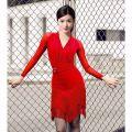 Latin dance practice set Black, red Colorful partners female M,L,XL,XXL,S