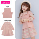suit Deesha / Desha Aerosol powder 90cm 100cm 110cm 120cm 130cm female spring and autumn Long sleeve + skirt 2 pieces routine There are models in the real shooting Socket nothing cotton Cotton 55% pan 45% They were 2 years old, 3 years old, 4 years old, 5 years old, 6 years old and 7 years old