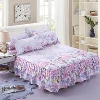 Bed skirt One pair of 120x200cm, one pair of 150x200cm, one pair of 180x200cm, one pair of 180x220cm and one pair of 200x220cm cotton Other / other Plants and flowers First Grade