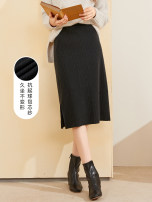 skirt Winter 2020 150/60A/XS,155/64A/S,160/68A/M,165/72A/L,170/76A/XL,175/80A/XXL Black, black pre-sale, patterned Mid length dress commute High waist skirt Solid color Type H 25-29 years old D046117M70 31% (inclusive) - 50% (inclusive) Tricolor acrylic fibres Simplicity
