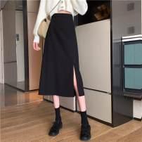 skirt Spring 2021 S suggests less than 70-97, m 98-108, l 109-120, XL 120-135, 2XL 135-145, 3XL 146-160, 4XL 160-180 Black back elastic waist