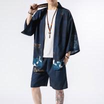 Other suits elbow sleeve summer Oghowe M L XL 2XL 3XL 4XL 5XL Black Skull, setting sun, black crane, blue ocean Pant youth 21AGH032809 Summer 2021