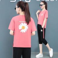 Women's large Spring 2021, summer 2021 Pink [premium], black [premium], blue [premium], white [premium] M [recommended 100 kg], l [recommended 100-115 kg], XL [recommended 115-130 kg], 2XL [recommended 130-145 kg], 3XL [recommended 145-160 kg], 4XL [recommended 160-170 kg] Two piece set commute easy