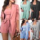 suit Autumn of 2019 M,L,XL,XXL,XXXL Solid color polyester fiber