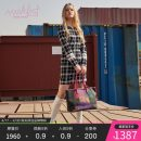 Dress Spring 2021 Black and white plaid S M L Short skirt singleton  Long sleeves commute Crew neck middle-waisted lattice Socket A-line skirt routine 25-29 years old mark fast zipper M1AGW65230- 91% (inclusive) - 95% (inclusive) polyester fiber Polyester 92% polyurethane elastic fiber (spandex) 8%