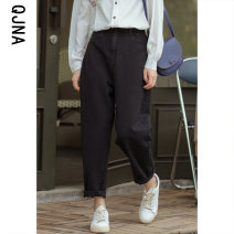 Jeans Winter 2020 White black S M L trousers High waist Haren pants routine 18-24 years old washing light colour QJN8627 Qingjiaona 96% and above Other 100% Pure e-commerce (online only)
