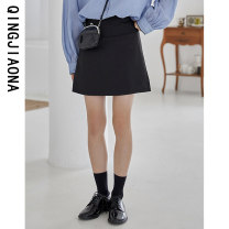 skirt Autumn 2020 S M L Short skirt Versatile Natural waist A-line skirt Solid color 18-24 years old More than 95% Qingjiaona other Other 100% Pure e-commerce (online only)