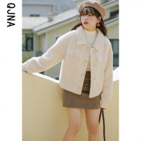 short coat Winter 2020 XS S M L White pink Long sleeves have cash less than that is registered in the accounts thickening singleton  Straight cylinder commute routine other Single breasted Solid color 18-24 years old Qingjiaona 96% and above QJN8647 other Other 100% Pure e-commerce (online only)