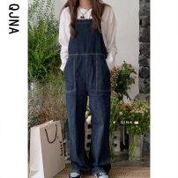 Jumpsuit / pants 96% and above trousers cotton low-waisted commute Graph color S M L routine Spring 2021 Wide leg pants QJN8543 Qingjiaona Pure e-commerce (online only)