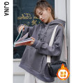 Sweater / sweater Winter 2020 dark grey S M L Long sleeves routine Socket singleton  Plush Hood easy commute routine Cartoon animation 18-24 years old 96% and above Qingjiaona Korean version other printing Other 100% Pure e-commerce (online only)