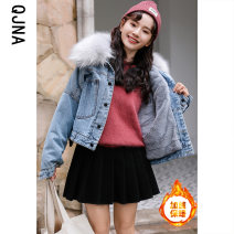 short coat Winter 2020 S M L blue Long sleeves routine routine singleton  easy commute routine other Single breasted Solid color 18-24 years old Qingjiaona 96% and above pocket QJN865 other Other 100% Pure e-commerce (online only)
