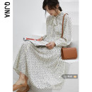 Dress Spring 2021 Picture color S M L longuette singleton  Long sleeves commute other High waist Decor Socket A-line skirt bishop sleeve Others 18-24 years old Type A Qingjiaona Korean version QJN2143 More than 95% other Other 100% Pure e-commerce (online only)