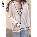 short coat Winter 2020 S M L White pink Long sleeves routine routine singleton  Straight cylinder commute routine V-neck Single breasted Solid color 18-24 years old Qingjiaona 96% and above Button QJN5307 other Other 100% Pure e-commerce (online only)