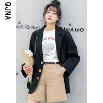 suit Winter 2020 Black apricot XS S M L Long sleeves routine easy tailored collar Single breasted commute routine Solid color QJN8611 18-24 years old 96% and above other Qingjiaona Button Other 100% Pure e-commerce (online only)
