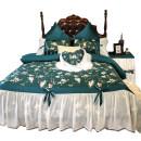 Bedding Set / four piece set / multi piece set cotton Embroidery Plants and flowers 200x95 Dream after dream cotton 4 pieces 60 1.5m (5 feet) bed, 1.8m (6 feet) bed, 1.8m bed (220 * 240cm quilt cover), 2.0m bed (220 * 240cm quilt cover) Qualified products 100% long-staple cotton Reactive Print