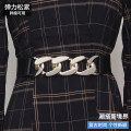 Belt / belt / chain Pu (artificial leather) Silver buckle gold buckle female belt Versatile Single loop Youth, middle age and old age a hook Geometric pattern soft surface 4.2cm alloy Tightness Spring 2021