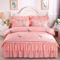 Bedding Set / four piece set / multi piece set cotton Quilting, others, hot drilling Plants and flowers 128x68 Other / other cotton 4 pieces 60 Fitted sheet, bed skirt, bedspread, others Qualified products Korean style Below 95% cotton twill Reactive Print  SD5111 Thermal storage