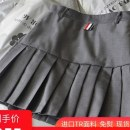 skirt Spring 2021 XL,L,M,S,XS Short skirt Versatile High waist Pleated skirt Solid color Type A 18-24 years old 91% (inclusive) - 95% (inclusive) other polyester fiber Stitching, zippers, buttons, folds