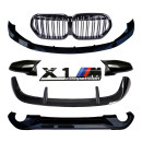 Surrounded by cars Jingguang BMW X1 Automobile modified parts ABS Small encirclement Support installation Anterior lip + posterior lip