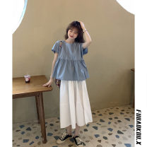 skirt Spring 2021 Average size Top skirt (stretch waist) Mid length dress commute High waist A-line skirt Solid color Type A 18-24 years old 269JKLH More than 95% Fubaokou other Korean version Other 100% Pure e-commerce (online only)