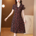 Dress Summer 2021 Yellow red L XL 2XL 3XL 4XL 5XL Mid length dress singleton  Short sleeve commute Crew neck middle-waisted Decor Socket Big swing routine Others 40-49 years old Mu Yixin lady NEJ7013 More than 95% other other Other 100% Pure e-commerce (online only)