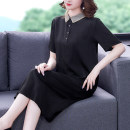 Dress Summer 2021 Brown Black L XL 2XL 3XL 4XL Mid length dress Short sleeve Polo collar other other 35-39 years old Mu Yixin NEJ8192 # More than 95% other other Other 100% Pure e-commerce (online only)
