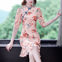 Dress Summer 2021 Decor S M L XL 2XL Mid length dress singleton  elbow sleeve commute other middle-waisted Decor zipper A-line skirt routine Others 35-39 years old Type A Mu Yixin lady NEJ6622 More than 95% other other Other 100% Pure e-commerce (online only)