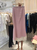 skirt Summer 2021 S,M,L,XL Black, pink Mid length dress commute High waist skirt Solid color Type H 18-24 years old 51% (inclusive) - 70% (inclusive) other other Korean version