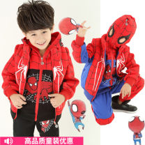 suit male winter leisure time Long sleeve + pants 3 pieces thickening There are models in the real shooting Zipper shirt No detachable cap Cartoon animation cotton Learning reward Class B Cotton 90% polyethylene terephthalate (polyester) 10% Winter of 2019 Chinese Mainland