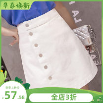 skirt Summer 2020 S suggests 85-95 Jin, m suggests 95-105 Jin, l suggests 105-115 Jin, XL suggests 115-125 Jin, 2XL suggests 125-135 Jin, 3XL suggests 135-150 Jin White, black, blue grey Short skirt Versatile High waist Irregular Solid color Type A 18-24 years old 81% (inclusive) - 90% (inclusive)