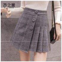 skirt Autumn 2020 S,M,L,XL,2XL Grey large, grey small, black small, black large, coffee 1981, grey a2978, black a2978, grey yellow 9357, black white 9357, black 1981, blue 1981, pink 5512, blue 5512, apricot 5630, dark grey 5630, black 5630, grey 5630, black 5630, black 5630 Short skirt commute other